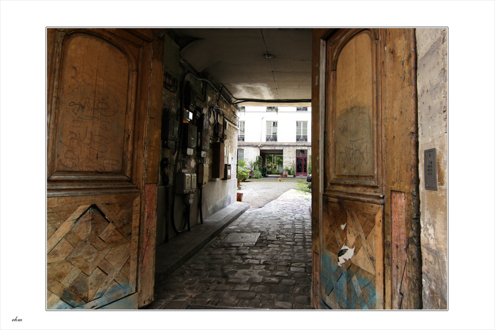 Offene Tür in Marais