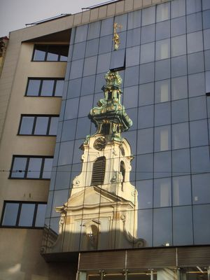 Offenes Turmfenster