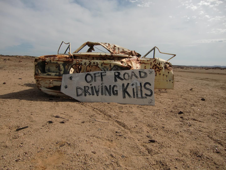 ohne Worte - an der Piste in Namibia