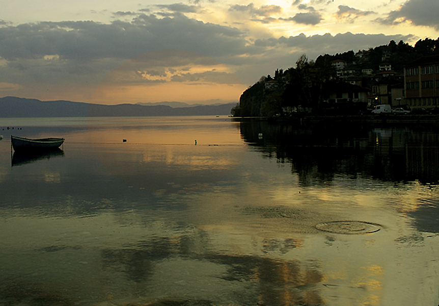 ohrid lake sunset
