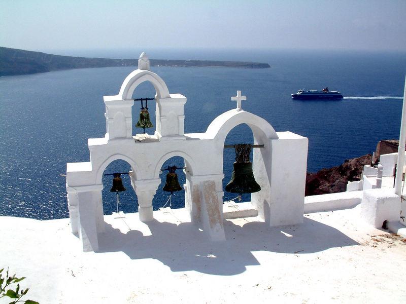 Oia auf Santorini ...