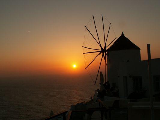 oia coucher de soleil