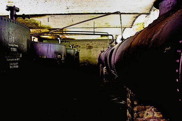 oiltanks in deeper level