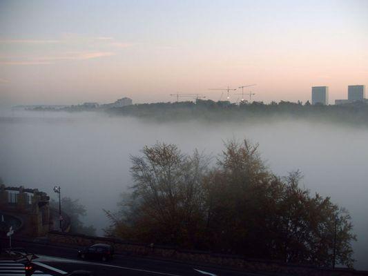 Oktober, Luxemburg, Nebel, Charlottenbr.