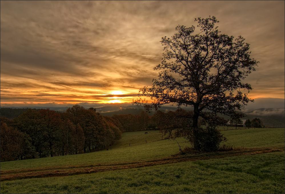 Oktobermorgen im Siegerland