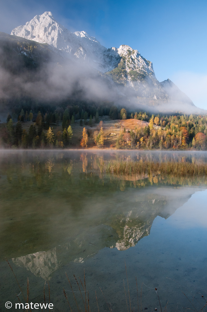 Oktobermorgen in den Bergen