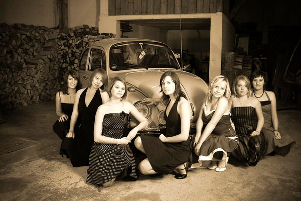 Old beetle, young women