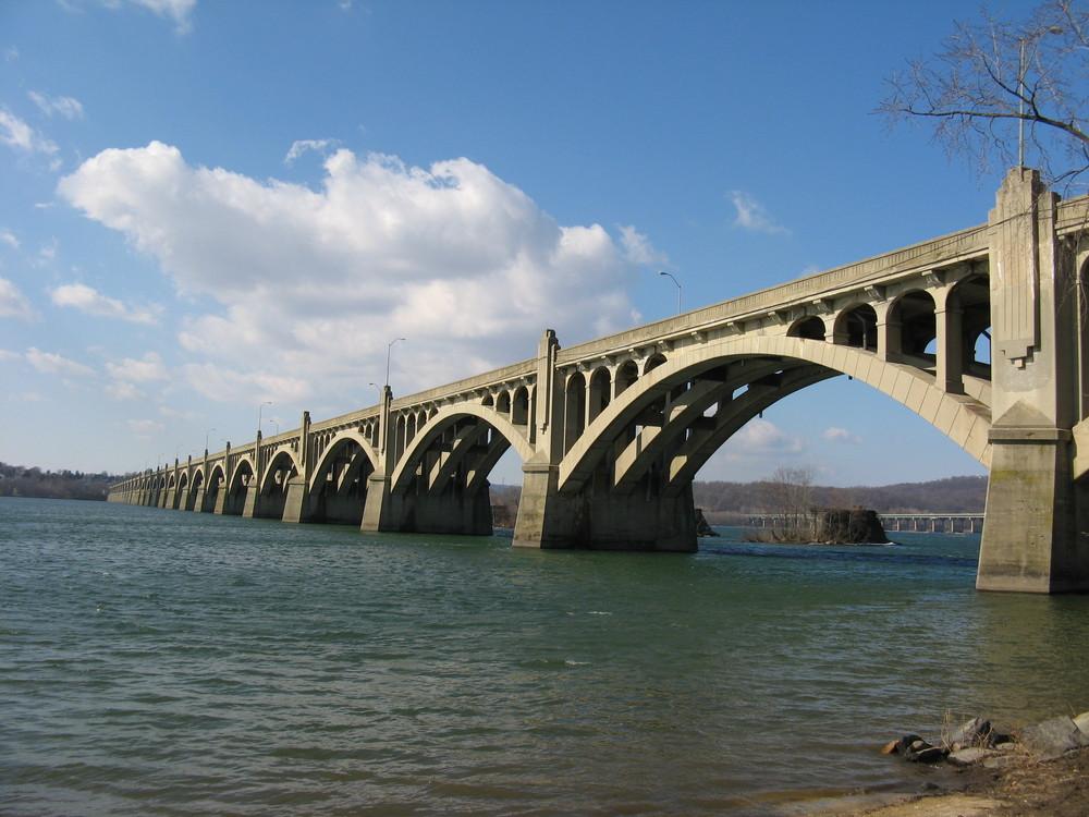 Old Bridge across the Susquehanna River