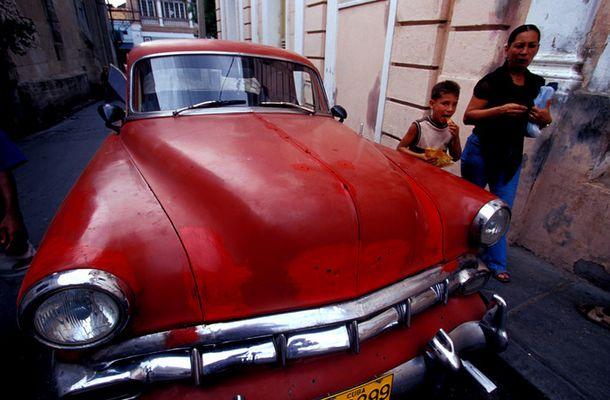 Old Car in Santiago de Cuba