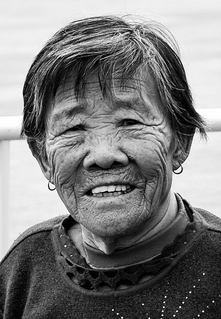 Old Chinese Woman i Beijing
