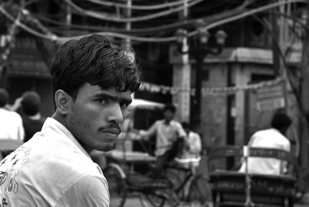 Old Delhi da un risciò -1 -