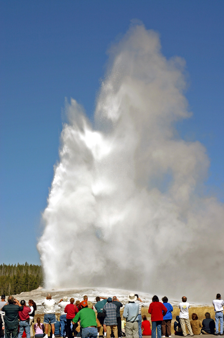 """""""Old Faithful"""" in Aktion."""