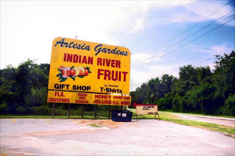 Old Fruit Sign