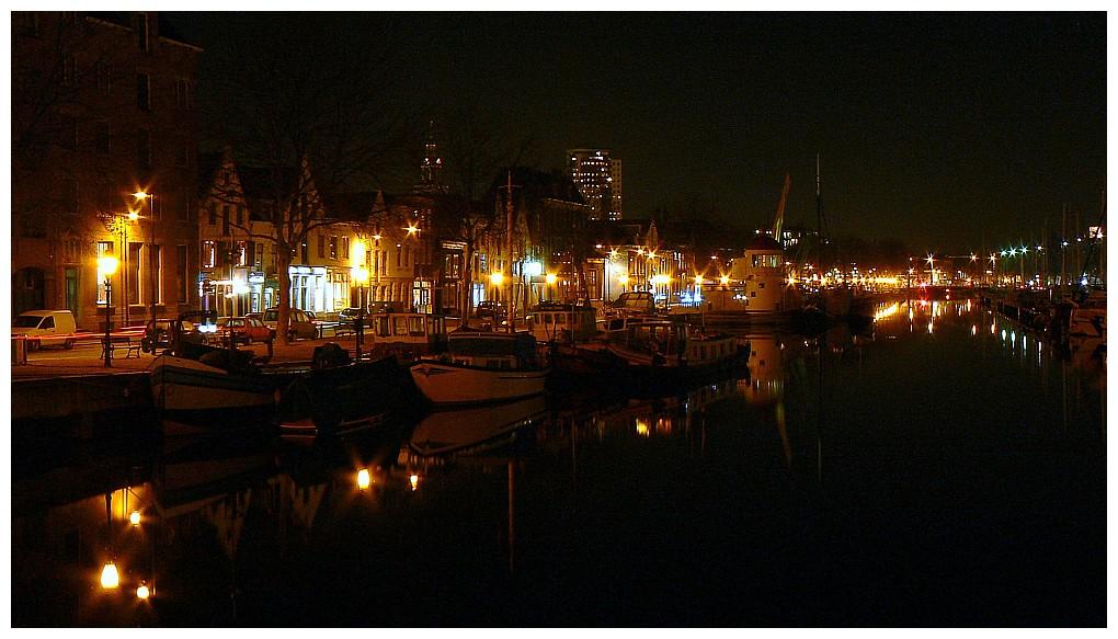 Old harbour Vlaardingen, Netherlands