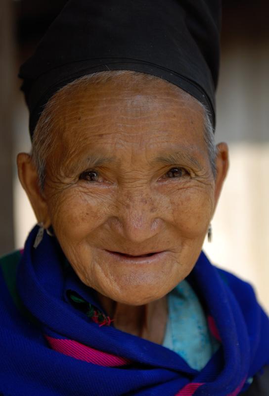 old lady laos