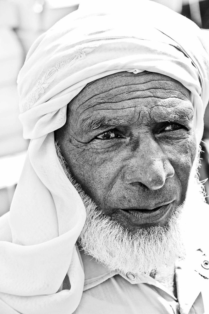 Old man in Dubai by Andre Barnard
