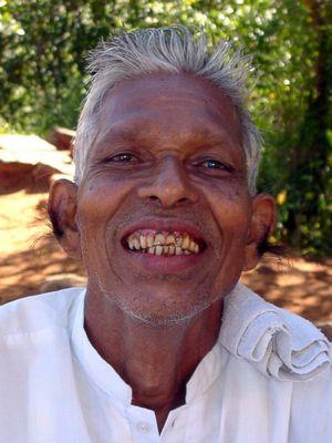 Old man in Sri Lanka