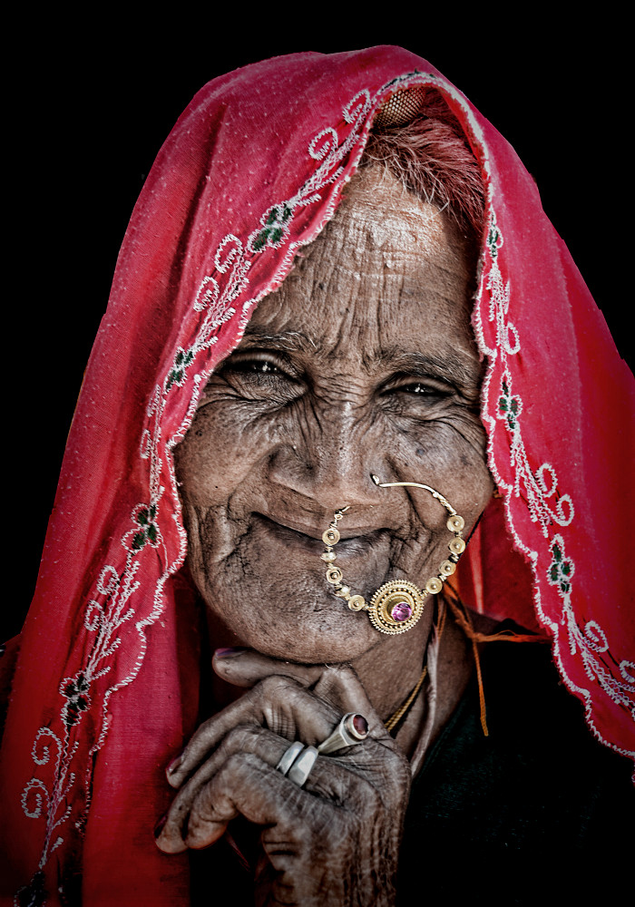 old rajasthani woman