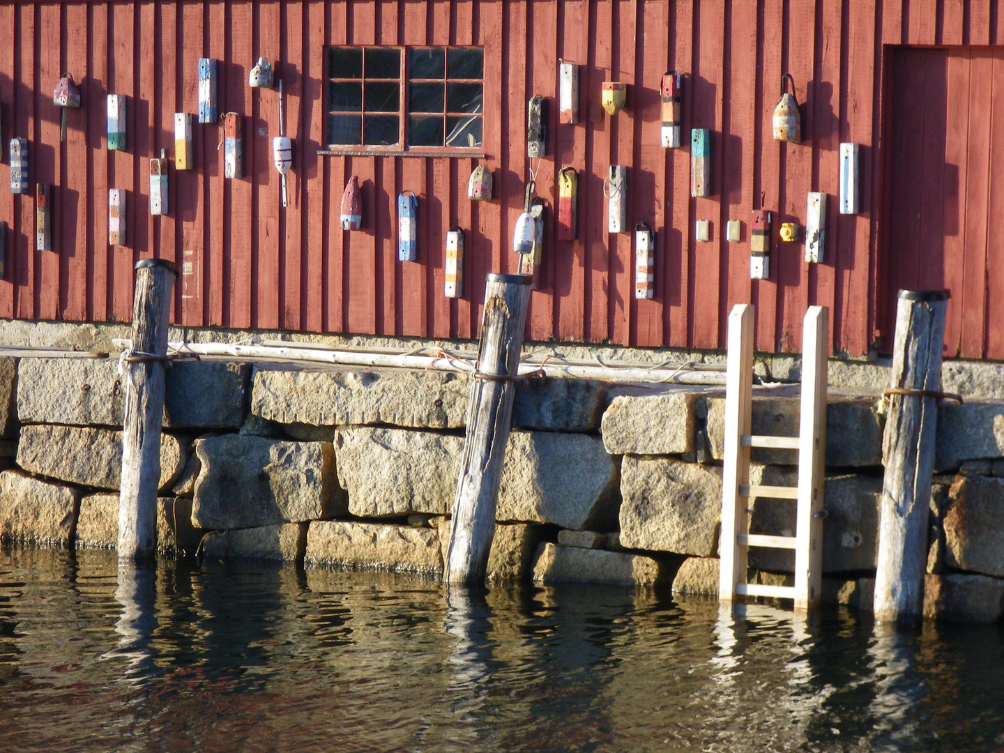 old red fishing shack in Rockport Massachusetts
