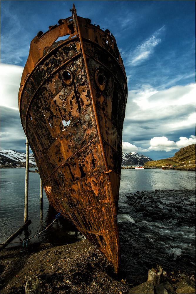 Old ship at Djúpavik..