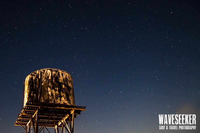 // Old watertank under the stars