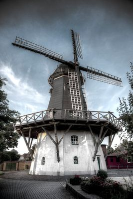 Old Windmill near Emden, Germany, Europe, North Sea
