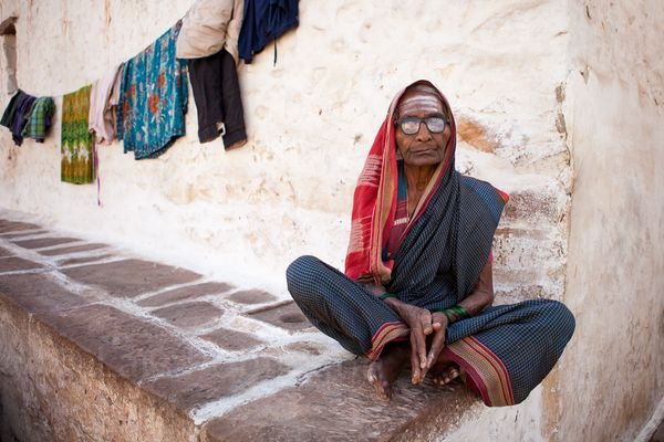 Old woman in Badami