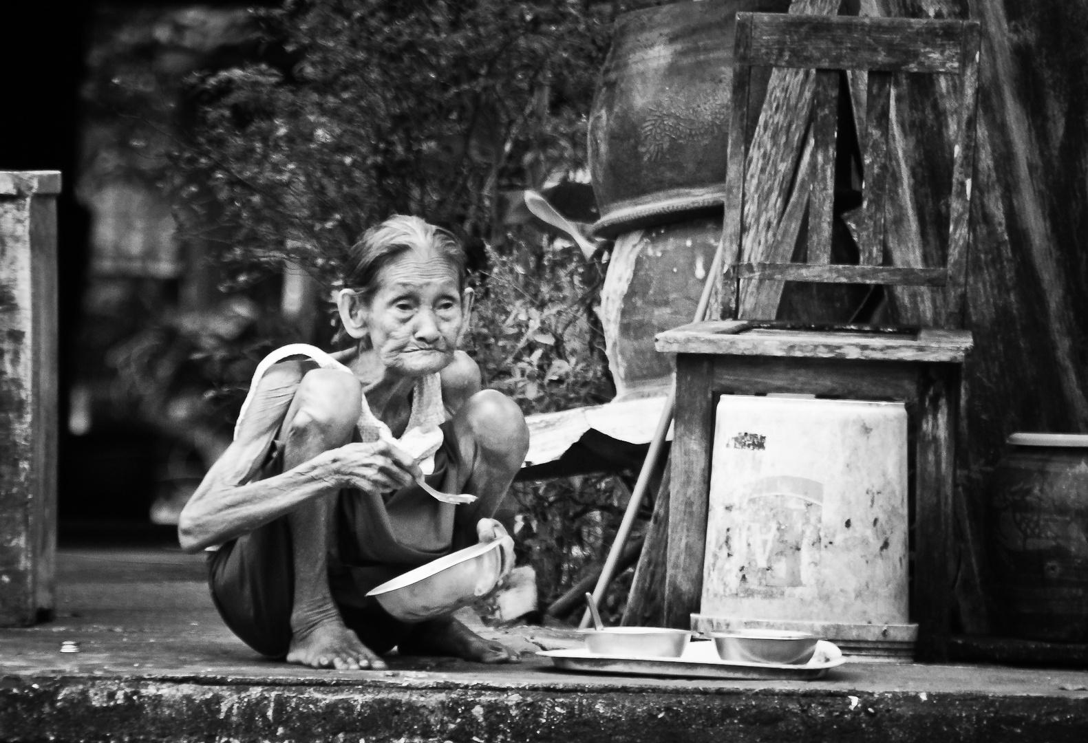 Old Woman in Bangkok