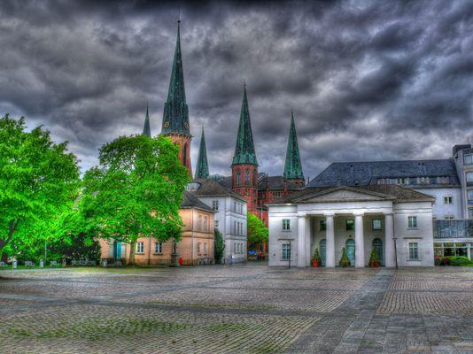 Oldenburger Schloßplatz mit Lambertikirche