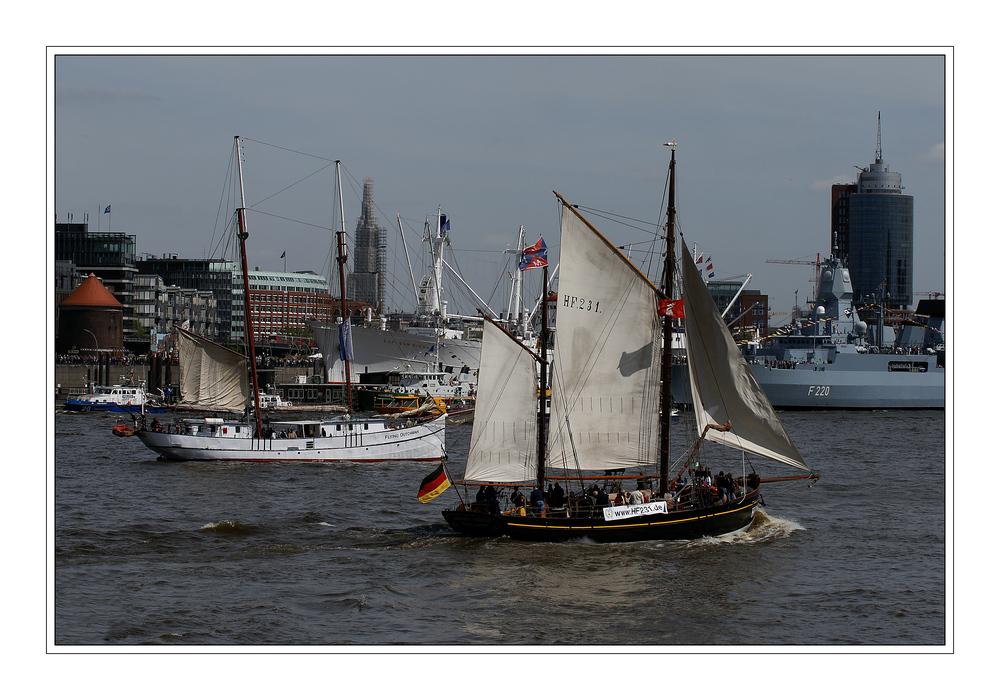 Oldtimer auf der Elbe