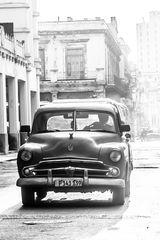 Oldtimer in S/W in Havanna Kuba