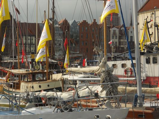 Oldtimersegelschiffe in Danzig