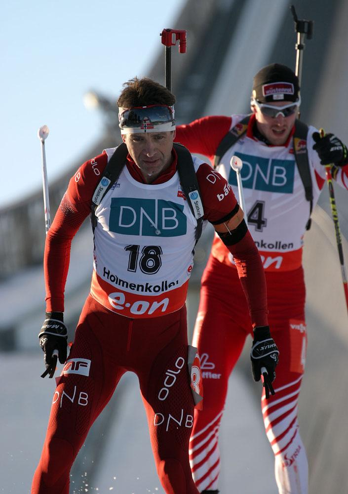 Ole Einar Bjørndalen, der Altmeister beim Heimrennen