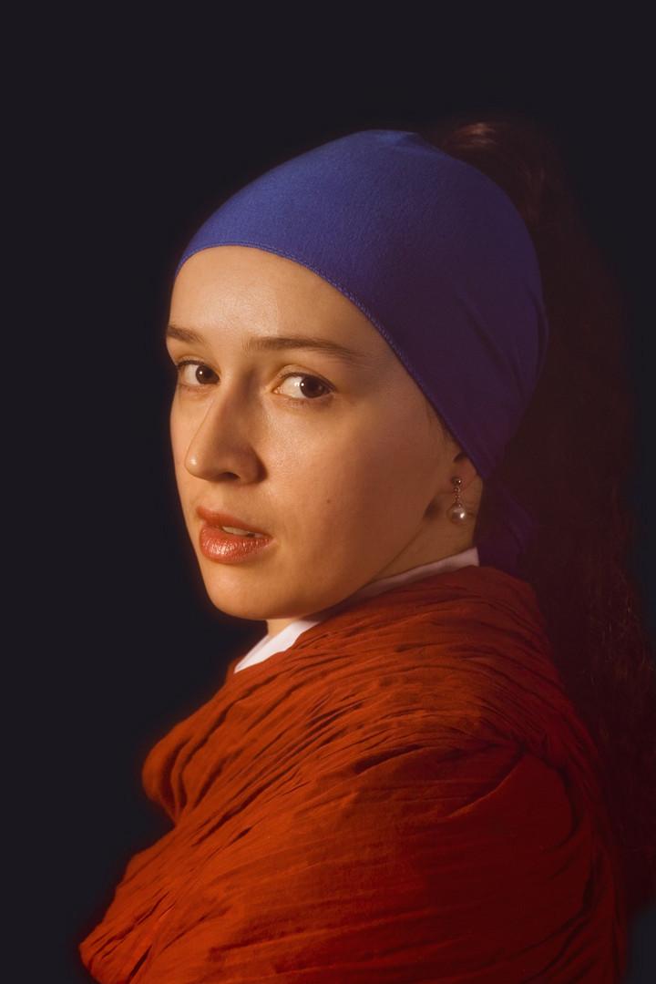 olga als m dchen mit dem perlenohrring von jan vermeer foto bild portrait portrait frauen. Black Bedroom Furniture Sets. Home Design Ideas
