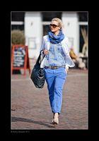 Olga in blue