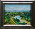 Olgemälde, Italienische Landschaft mit Augustusbrücke bei Narni Provinz Terni