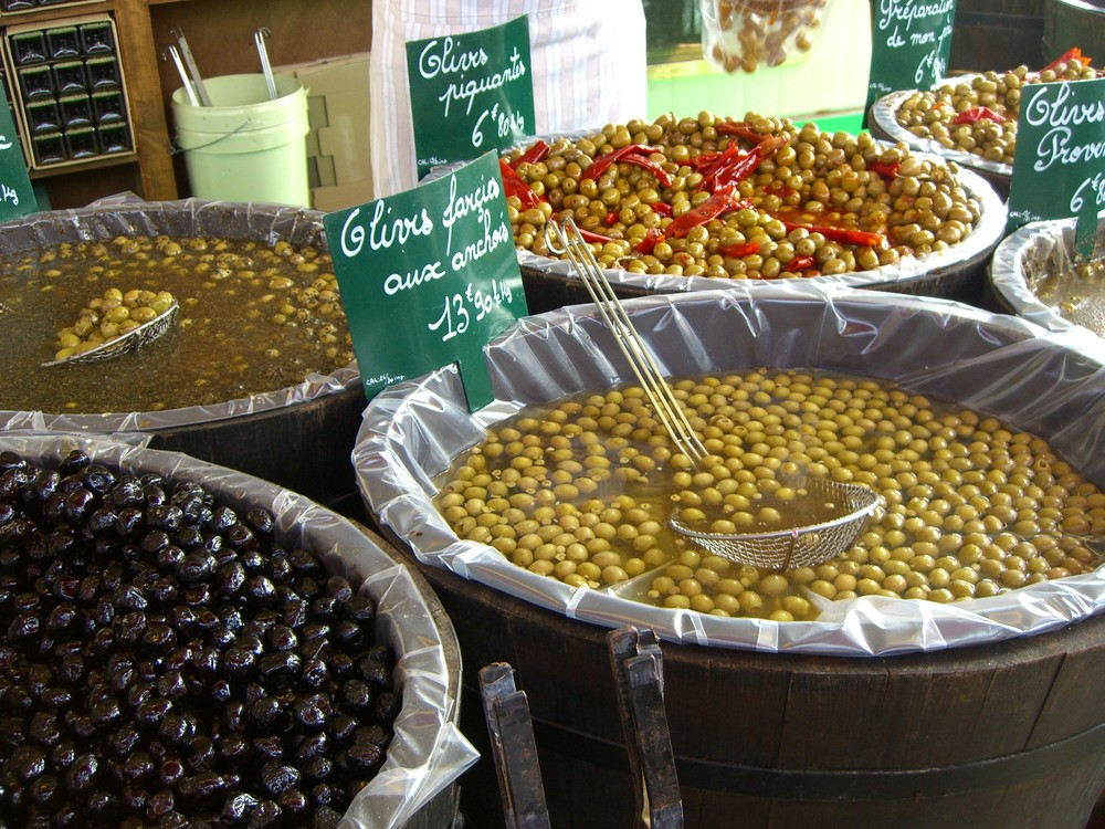 Olivenstand in Frankreich