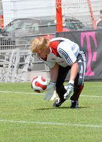 Oliver Kahn beim FC Bayern Training am 26.07.2007