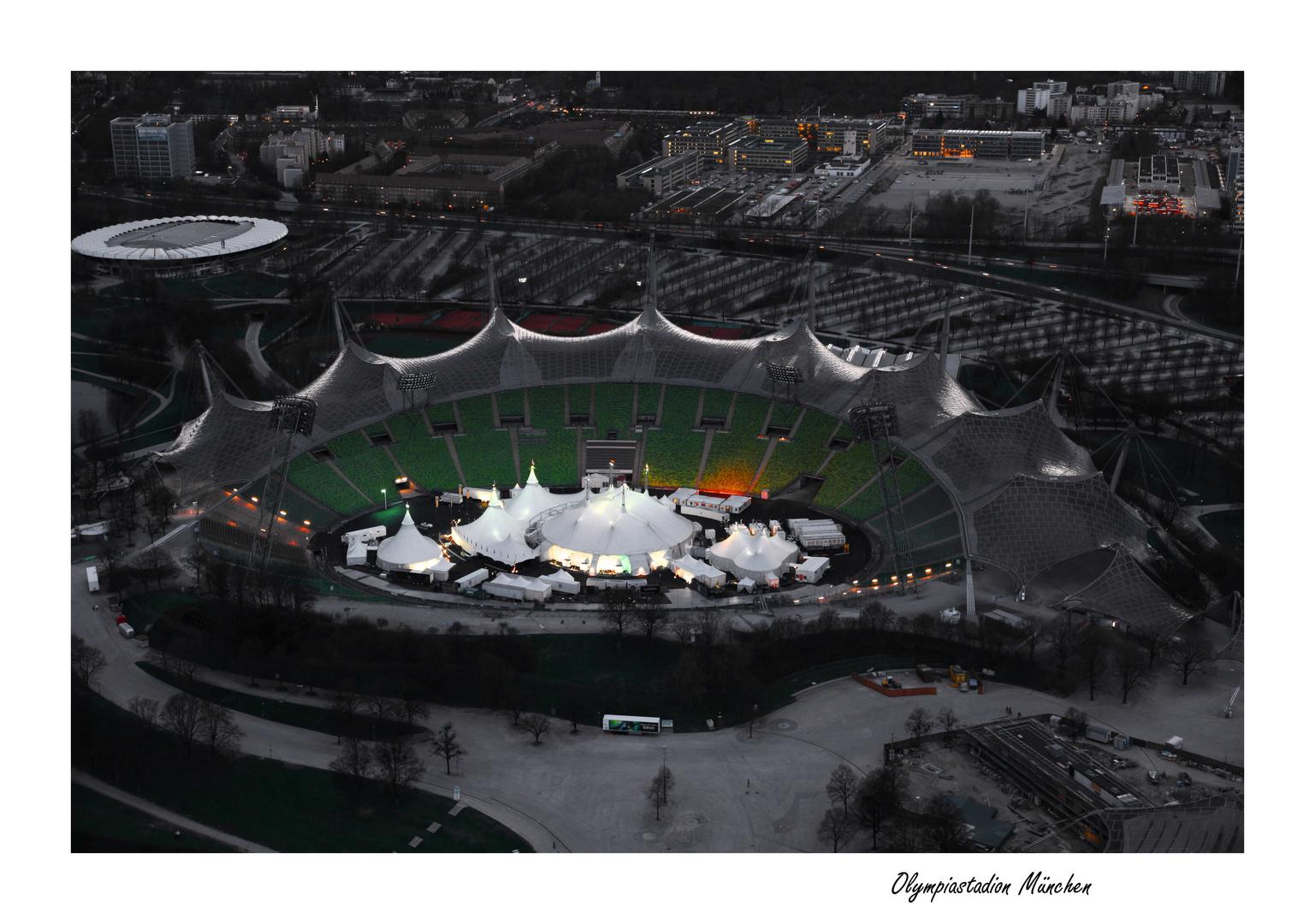 Olympiastadion München mit dem Cirque du Soleil
