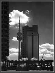Olympiaturm im Infrarot