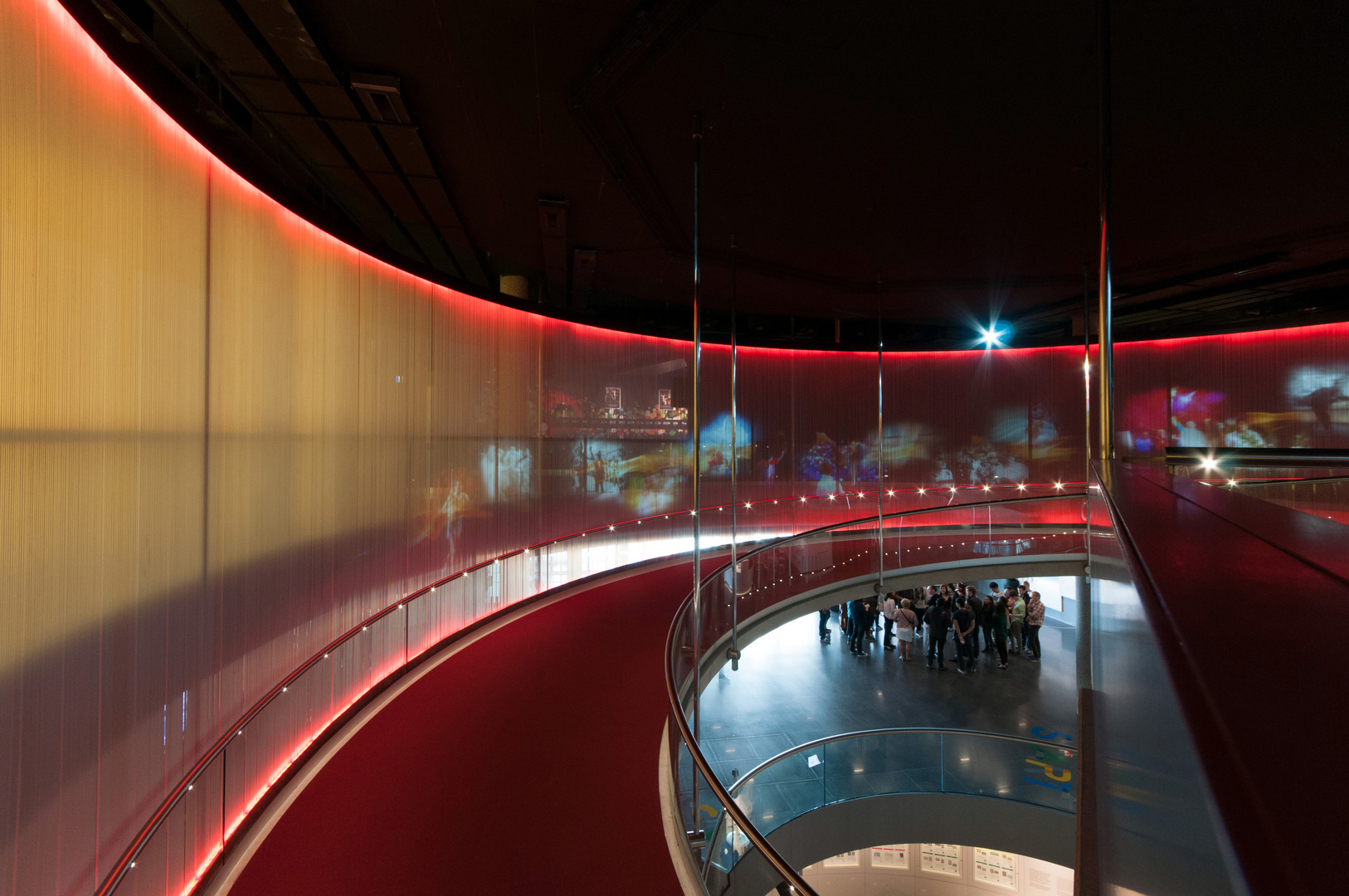 Olympisches Museum in Lausanne - Innenaufnahme