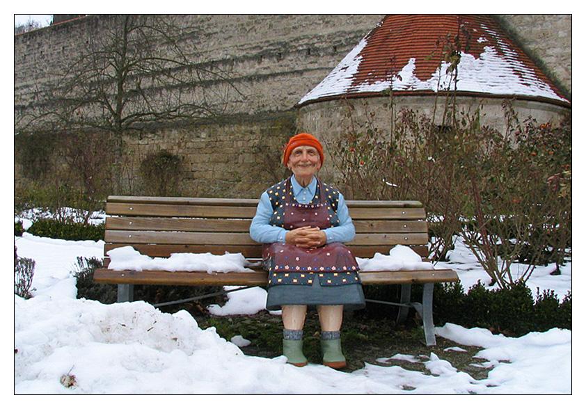 Oma... hod a Muetzerl griagd... z`Weihnachdn.... :-)
