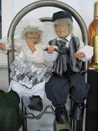 Oma u. Opa auf Hochzeitsreise