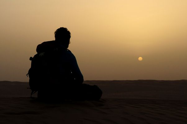 Oman zu Fuß - Sonnenaufgang in Wahiba Sands