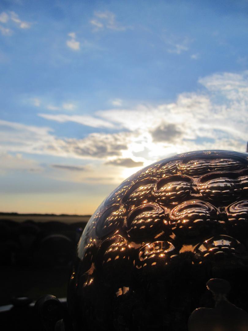 Oma´s Gärtchen bei Sonnenuntergang