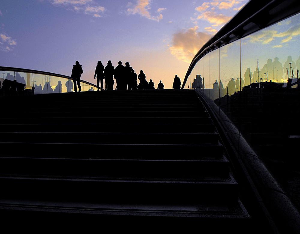 ombre(nuovo ponte calatrava Venezia)