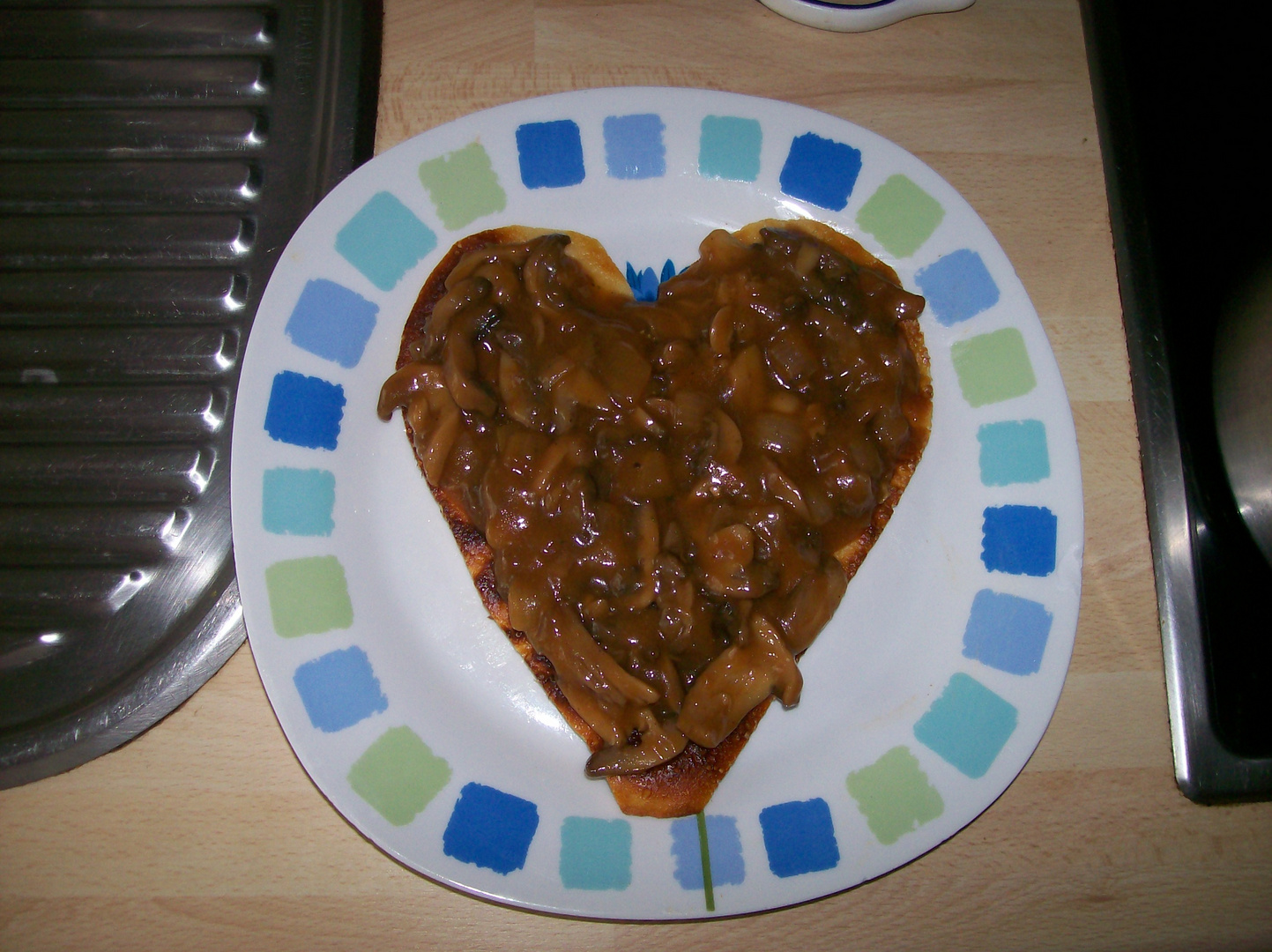 Omelette mit Herz