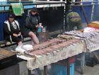 Omul auf dem Fischmarkt am Baikalsee