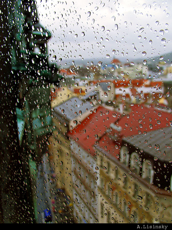 ...on a rainy day (a view from St. Jindrich bell tower)