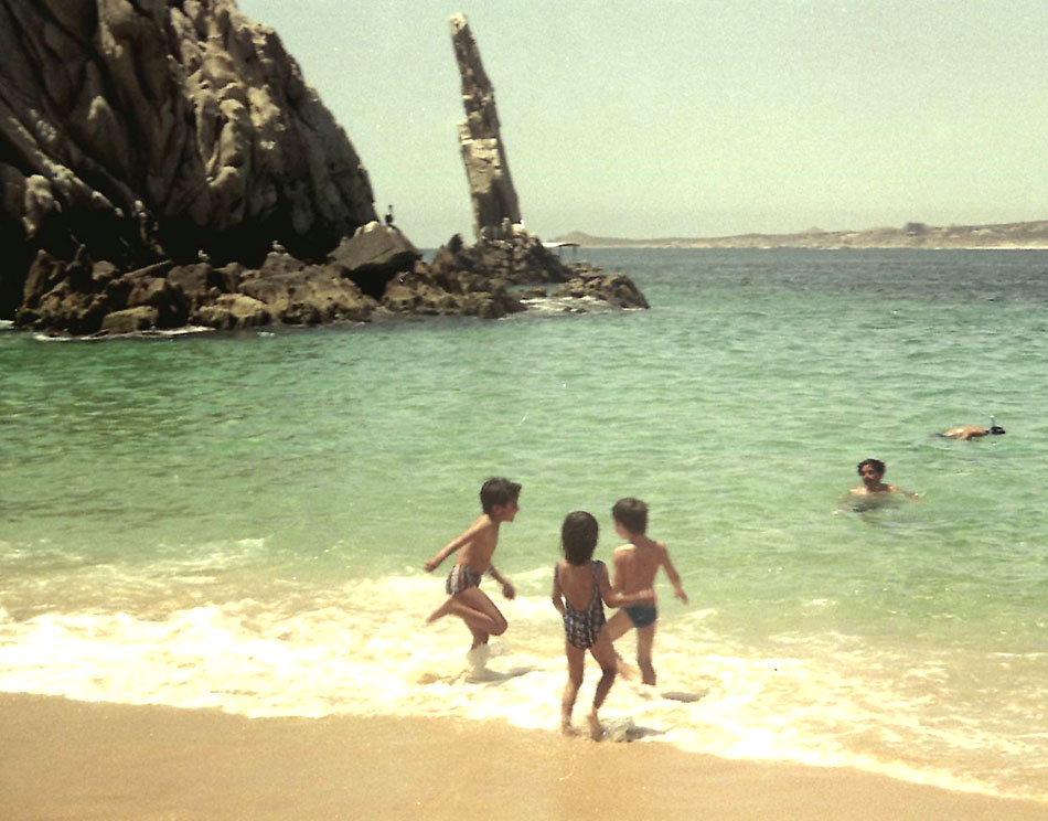 On the beach at Cabo San Lucas
